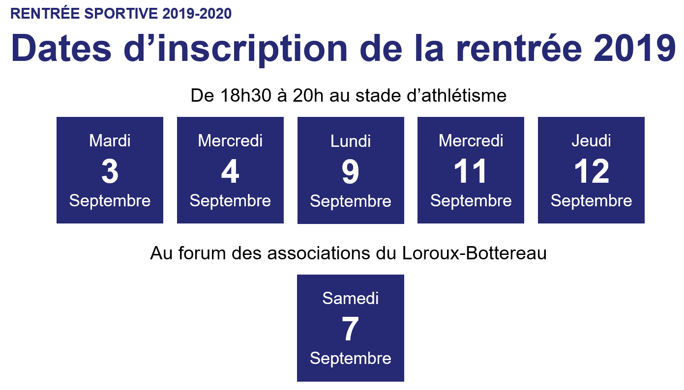 dates inscriptions LD 2019 2020